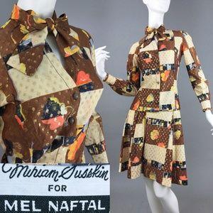 S Vintage 1960s Mel Naftal Mod Top + Skirt Set